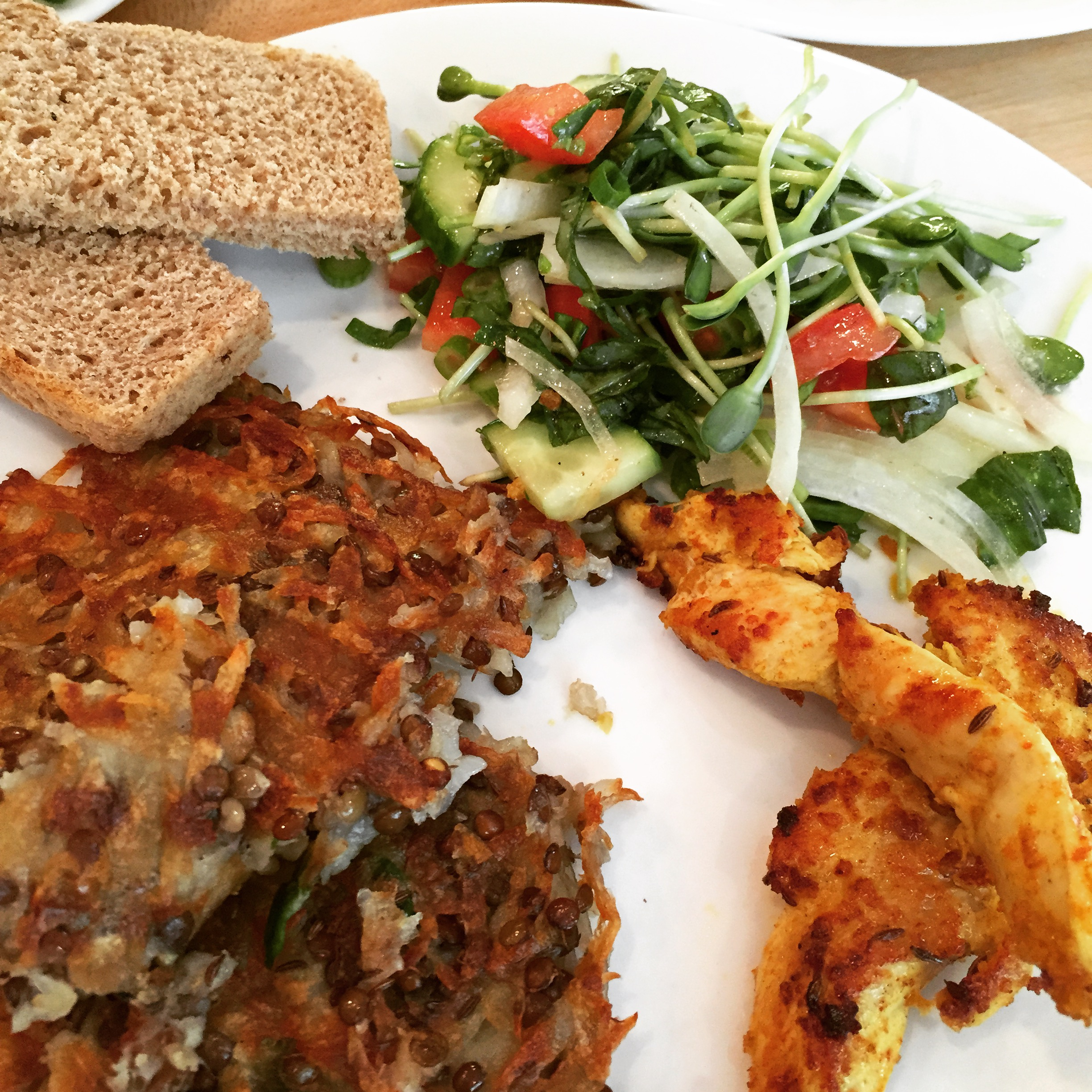 Potatoe Rosti with BIO-BUD Lentils and chicken